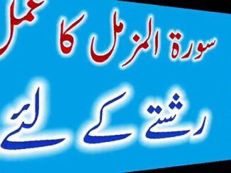 Surah Muzammil Wazifa For Marriage